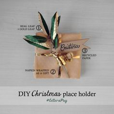 #DIY Christmas place holder: simple #idea for your festive table settings. - #LetteraPsy