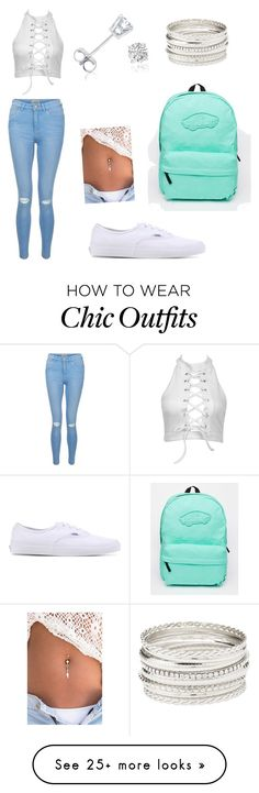 """""""Cute outfit with vans"""" by mercy11 on Polyvore featuring New Look, Vans, Amanda Rose Collection and Charlotte Russe"""