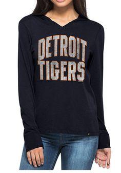'47 Detroit Tigers Womens Navy Blue MVP Hoodie