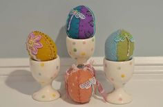 Wool felt Easter eggs- could use synthetic felt also.