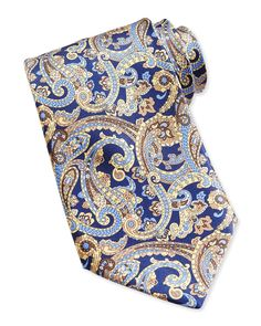 Neat Paisley Pattern Silk Tie