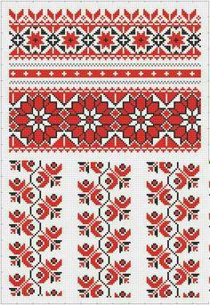 Cross Stitch Borders, Cross Stitch Flowers, Cross Stitch Charts, Cross Stitch Designs, Cross Stitching, Cross Stitch Patterns, Folk Embroidery, Learn Embroidery, Cross Stitch Embroidery