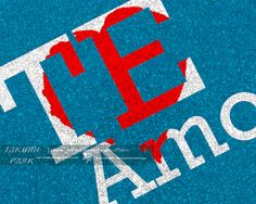 "This love art print is called "" Te Amo"" which is Spanish for"" I love you"" This word art is a color photo print. Love art print by Takumi Park. $13.88 and up."