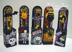 Halloween Test Tube Holders & Free SVG