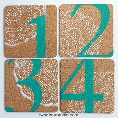 Doily Stenciled Coasters at Sweet Rose Studio 10