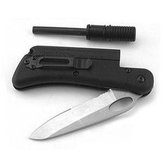 Folding Knife and Fire-Starter | 9 Survival Gear Items That Can Fit In Your Glove Box | Always Be Prepared Check Out These Useful Items You Could Use When SHTF