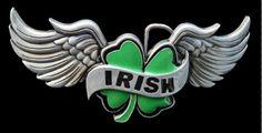 NEW CELTIC IRISH 4 FOUR LEAF CLOVER WINGS 3-D ENAMEL BELT BUCKLES #irish #irishbuckle #irishbeltbuckle #luckoftheirish #beltbuckle #coolbuckles
