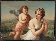 SWITZERLAND | Style of Angelica Kauffmann (Swiss, 1741–1807). The Temptation of Eros, 1750–75. The Metropolitan Museum of Art, New York.  Gift of James De Lancey Verplanck and John Bayard Rodgers Verplanck, 1939 (39.184.18) #WorldCup