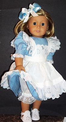 Handmade Dress Apron Pantalettes and Shoes for American Girl Dolls Kit 18Dolls   eBay