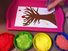 Fall Fun!  Great art for PreSchool.