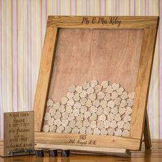 Wooden Dropbox Wedding Guestbook (Portrait)
