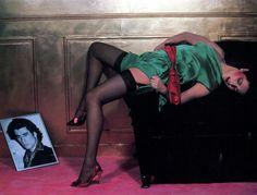 """lelaid:  """"Shot by Guy Bourdin for Charles Jourdan, 1979  """""""