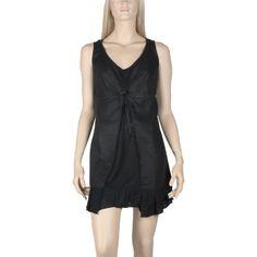 Robe Tunique noir en lin et coton Maloka