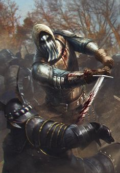 """Blue Stripes Commando - The Witcher 3 Wild Hunt / Gwent Card. """"I'd do anything for Temeria. Mostly though, I kill for her. Witcher Art, The Witcher, My Fantasy World, High Fantasy, Fantasy Armor, Medieval Fantasy, Fantasy Battle, Fantasy Inspiration, Character Inspiration"""