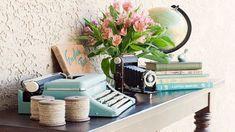 Inspiração vintage com máquinas de escrever ~ Decoração e Ideias