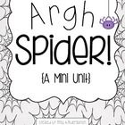 Free Spider Mini Unit with four fun Halloween-ready activities (writing and math) for K-1