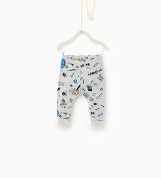c125e244f Image 1 of Rock print leggings from Zara Dots Clothing, Clothing Haul,  School Clothing
