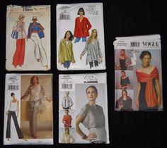 Vogue Pattern 9l90 V8504 V8721 7161 V8675 Top Wrap Tunic Jacket Lot of 5 XS S M #Vogue