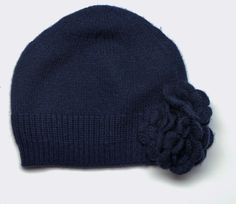 Baby CZ | hat with flower, navy