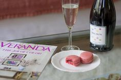would make a fantastic snack break - champagne, macaroons and a stack of magazines...