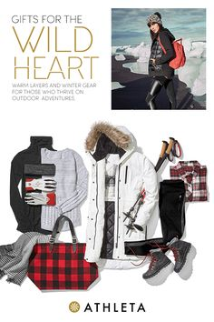 The Wild Heart thrives on adventure. She's brave, bold, and happiest in the great outdoors. Give her the gift of warm layers, including sweat-wicking workout tops, soft sweaters, and jackets that will keep her comfortable in any climate. Ski Fashion, I Love Fashion, Timeless Fashion, Outdoorsy Style, Outdoorsy Fashion, Winter Outfits, Cool Outfits, Ski Clothes, Winter Clothes