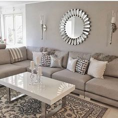 Ideen für Wohnzimmerdesign Ideas for living room design Living Room Decor Cozy, Elegant Living Room, Living Room Grey, Living Room Interior, Home Living Room, Living Room Designs, Bedroom Decor, Centre Table Living Room, Living Walls