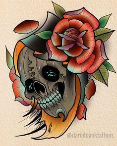 Tattoo Themes, School Cartoon, Neo Traditional Tattoo, The Grim, Grim Reaper, Skull Art, Tattoo Inspiration, I Tattoo, Old School