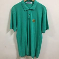 Men's BURBERRYS LONDON GOLF tennis Polo Shirt Size L MADE IN ENGLAND Green  | eBay