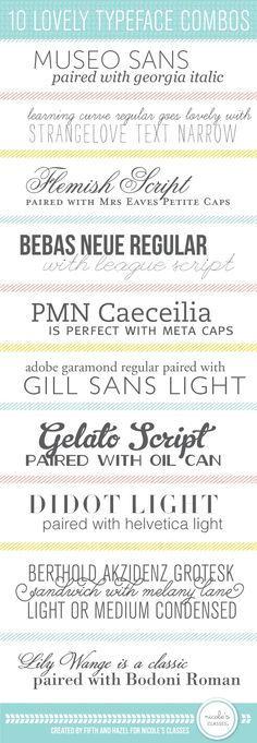 Beautiful font combinations!