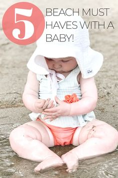 Check out these 5 must haves for the beach to make your life easier with a baby! . #beachlife #babymusthaves #summerfun #vacationpacking #familyfun