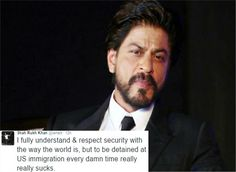 #‎ShahrukhKhan‬ ‪#‎Detained‬ At ‪#‎Airport‬ Once Again..  ‪#‎bollywood‬ ‪#‎kingkhan‬ ‪#‎us‬ ‪#‎custody‬ ‪#‎Pokemons‬