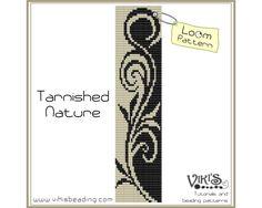 Loom Bracelet Pattern: Tarnished Nature  INSTANT DOWNLOAD pdf