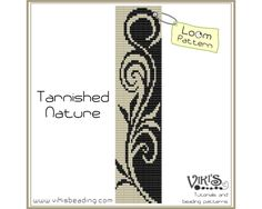 Loom Bracelet Pattern: Tarnished Nature - INSTANT DOWNLOAD pdf - Buy 2 Get 1 free with coupon codes - bl112 by VikisBeadingPatterns on Etsy