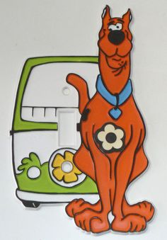 SCOOBY-DOO Hanna-Barbera Light Switch Plate Cover - Vintage 1972, TV Cartoon