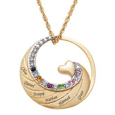 153 Best Grandmother Necklace With Birthstones Images In 2020