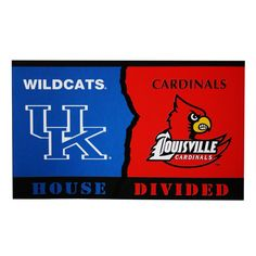 Oh haha this is so our house. David & the girls rock the Cards....I rock the Cats. GO UK!