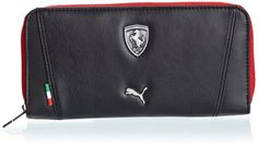 41f2076a50 Puma Ferrari LS Black Wallet (7224601)  Amazon.in  Luggage   Bags
