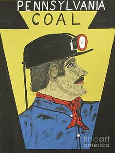 Pennsylvania Coal Miner Poster by Jeffrey Koss