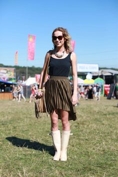 Festival fashion often requires rain boots...check the forecast and be prepared!