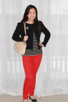 #chanel #stripes #red