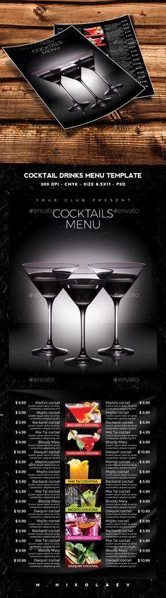Blackboard Coffee Menu A4 Flyer Coffee menu, Menu templates and - drinks menu template