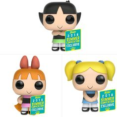 """""""""""Sugar, Spice and everything nice"""" plus more! Come and find us at AMC Expo stall number 151""""   Buy the First to Market set of Powerpuff Girls POP!  Vinyls for $60, limited quantities. Exclusive AMC Offer.  #AMCEXPO  www.ozziecollectables.com.au"""