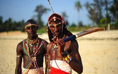 Incredible pictures from Kenya as a cricket team is formed of Maasai warriors   from the Laikipia region.