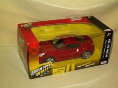 NISSAN 370Z 2009 MAISTO ADVENTURE WHEELS RED 31900 01045 NEW 2011 DIE CAST #Maisto #Nissan