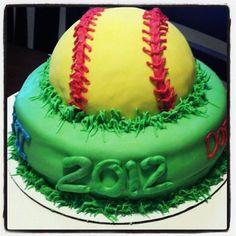 Softball cake......make it soccer instead!!!!