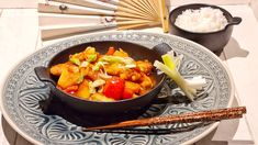 """Chicken Sweet and Sour with Basmati Rice   Da Cipriano. """"Served on a Sumatra Plate by Butlers."""" #Butlers #sweetandsour #chickensweetandsour⠀ #sweetandsourchicken #alessandrocipriano #dacipriano #ciprianorecipes Chicken Filet, Apple Vinegar, Rice Ingredients, Sweet N Sour Chicken, Roasted Meat, Wok, Chicken Recipes, Curry, Stuffed Peppers"""