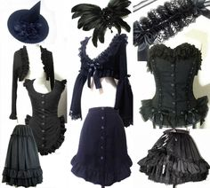 Antique Beast Gothic Lolita designer clothing brand from Japan. Shopping for Goth jackets with dangling sleeves, bell skirts, long aristocrat Victorian skirts, corsets with detailed lace Punk Fashion, Lolita Fashion, Gothic Fashion, Steampunk Witch, Goth Look, Gothic Lolita, Lolita Style, Goth Style, Victorian Gothic