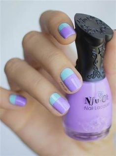 DIY: Summer nail art designs, colorblocked manicures - Style - http://TODAY.com