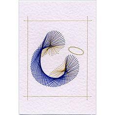 Maria und Baby Fadengrafik-Karten Muster