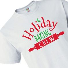 Make sure your entire holiday baking crew has their uniform on, even the little ones! This adorable holiday t-shirt is the perfect outfit for the ulti. Merry Christmas, Christmas Photo Cards, Christmas Time, Funny Christmas, Christmas Cookies, How To Make Cookies, Making Cookies, Fun Express, Holiday Outfits